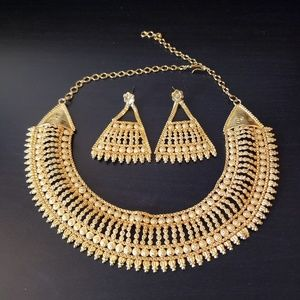 Gold Indian Necklace Set